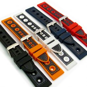 Silicone Grand Prix Racing Style Sports Watch Strap C032